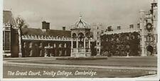 Black/White Postcard of The Great Court Trinity College Cambridge
