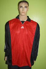 adidas vintage Torwart Trikot Jersey 90th #1 rot schwarz Gr. XL