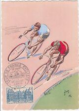 CARTE MAXIMUM TOUR DE FRANCE 1953 26 07 : GRAND CACHET ETAPE22 PALAIS LUXEMBOURG