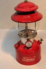 vintage coleman lantern 200A red 5/72 super clean