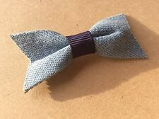 Denim Bow Hair Clip