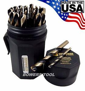 Norseman 29 pc HI-Molybdenum M7 Drill Bit Set w Case 1/16-1/2 MADE IN USA SP-29P