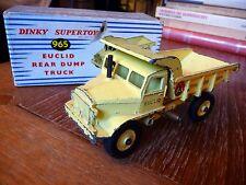 DINKY TOYS EUCLID REAR DUMP TRUCK SUPERTOYS 1/50 Ref 965 avec BOITE