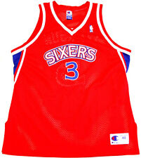 Authentic Champion Iverson ROOKIE 76ers Gr XL SZ 48 NBA Trikot Basketball Jersey