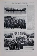1897 BOER WAR H.M.CRUISER AEOLUS CAPTAIN OFFICERS SEAMEN MARINES IN NAGASAKI