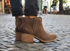 Clarks Schuh Maypearl Daisy olive suede Chelsea Boot Stiefeletten Ankle-Boot NEU
