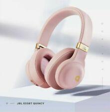 JBL E55BT Quincy Edition Wireless Over-Ear Headphones - Rose Gold (A)