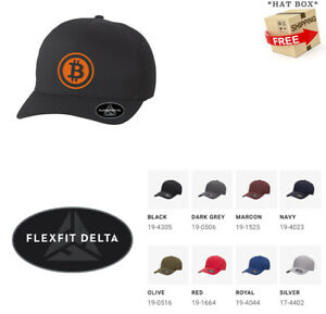BITCOIN CURRENCY P2P FLEXFIT DELTA  HAT  *FREE SHIPPING in BOX*