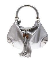 Gucci Indy Silver Leather Shoulder Bag