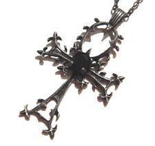 THORNY ANKH PENDANT Gunmetal black Egyptian Ansate Cross gothic Death Sandman 4E