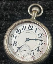 VINTAGE 1917 ILLINOIS WATCH CO. 21J 18s BUNN SPECIAL POCKET WATCH - #701