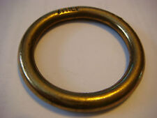 "10 LOT  3/16"" Solid Brass RING 1 3/4"" Outside Made ITALY NOS 1 1/4"" Inside TEN"