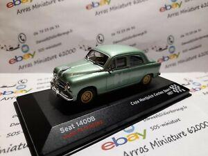 Seat 1400B - 1957 - Copa Montjuïch Coches Sport - boite pléxi 1:43 eme ( neuf )