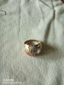 Ring Herren 3-erlei Gold, weiß-rot-gelb, Durchmesser: 20cm, sehr guter Zustand