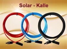 Câble Solaire 4mm ²/6mm ² en Bleu Rouge Noir, sans ou avec Monté MC4 Prise