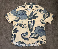 Jams World Floral Short Sleeve Button Up Hawaiian Shirt men's size XL