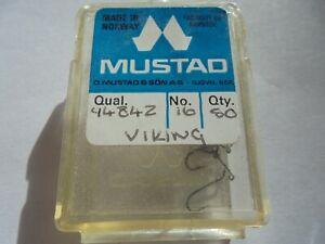 Mustad Viking 94042 size 16 up turned eye dry fly hooks .