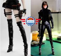 """KUMIK 1//6 Scale bottes noires creux pour 12/"""" figure féminine poupée PHICEN"""