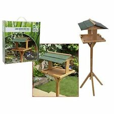 traditionel oiseau en bois table jardin mangeoire Alimentation Station sur pieds