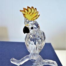 Swarovski Cockatoo Figurine #7621 000 007 - Mint