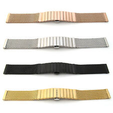 Watch Strap Bracelet SHARK MESH STAINLESS STEEL SOLID LINK Band Deployment Clasp