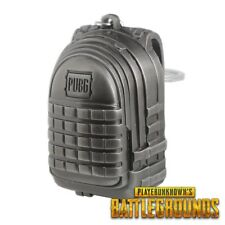 PUBG level 3 backpack Playerunknowns battlegrounds Keychain ring Silver Key Ring