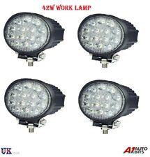 4 Pcs 12V/24V 42 W Impermeable 14 LED con Luces y Lámpara de trabajo haz puntual OFFROAD ATV 4X4