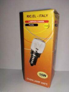 Forno LAMPADA PER FORNO e14 40 Watt chiaro 220-240 Volt fino a 300 ° C