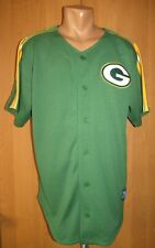 GREEN BAY PACKERS WINNING TEAM BASEBALL STYLE JERSEY SHIRT MITCHELL & NESS sz L