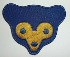 """Chicago Cubs Head Embroidered PATCH~2 3/4 x 2 1/4""""~Iron or Sew On~MLB~Ships FREE"""