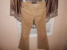 Juicy Couture Khaki Corduroy Jeans Size 27 x 29.5 Boot Cut Women's