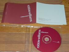 ROBBIE WILLIAMS - MILLENNIUM / 1 TRACK MAXI-CD 1998 MINT-