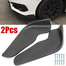 2Pzs Universal Parachoques Auto Coche Anticolisión Pala Delantera ABS Protector
