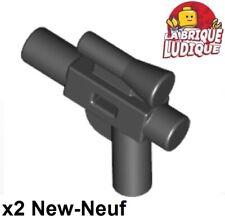 Lego 2x arme star wars weapon pistolet gun blaster small noir/black 92738 NEUF