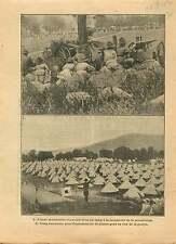 WWI Sammies Soldats US Army Camp Maneuver Machine Gun War 1917 ILLUSTRATION
