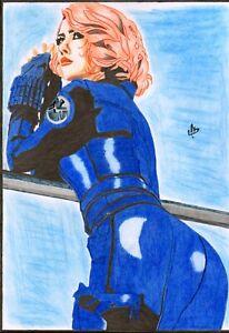 "Black Widow  (09"" x 12"") by SAMUARTY - ArtinUp"