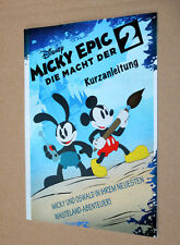 Mickey Epic die Macht der 2 / The Power of Two Kurzanleitung Heft Promo Booklet
