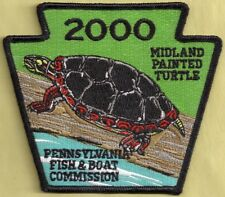 Pa Pennsylvania Fish Game Commission New Non-Game 2000 Painted Turtle Patch