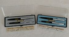 Lot 2 Vintage 1972 Bell Telephone YELLOW PAGES Sheaffer Pen Pencil Box Sets