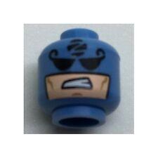 LEGO - Minifig, Head Balaclava - Black Eyes, 'Z' in Circle & Mouth Hole w/ Sneer