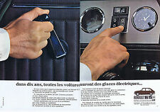 PUBLICITE ADVERTISING 074 1969 RENAULT 16 TS elles auront des glaces  (2pages)