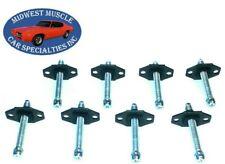 73-80 Ford Headlight Head Light Lamp Adjuster Adjusting Screw Bolt & Nut 8pcs J