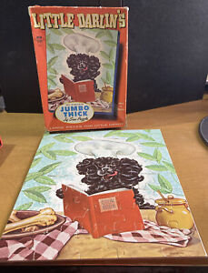 Vintage Retro Little Darlin's 40 Large Pieces Dog Thick Jig Saw Puzzle - 1963
