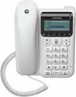 Motorola CT610 Corded Telephone w/ Answering Machine & Call Block
