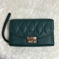Vera Bradley Women's Leather Ultimate Wristlet In Sycamore Forest Green