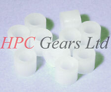 M5 Nylon Spacers Pack of 10 Plastic 10mm OD, 5mm long HPC Gears