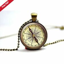 Glass Steampunk Chain Costume Necklaces & Pendants