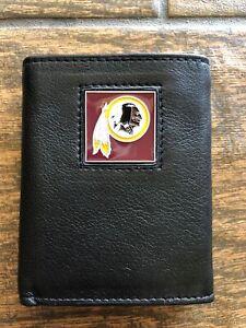 Tri Fold Leather Wallet Washington Redskins