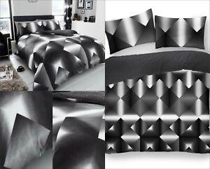 Duvet Quilt Cover Reversible 3D Design Poly-Cotton Bedding Single Double King