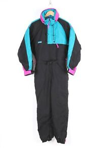 Vintage 90s COLUMBIA Ski Snow Suit Color Block Nylon Women's Size Medium